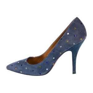 f18ef8823e8 Isabel Marant Blue Suede heels with Stars